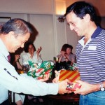 Dr Esmore invited to christmas dinner to receives a gift