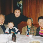 Two sisters, youngest son & grand son