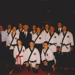 Master Bong Soo Han and Master Kimm with the Hapkido Demonstration Team.